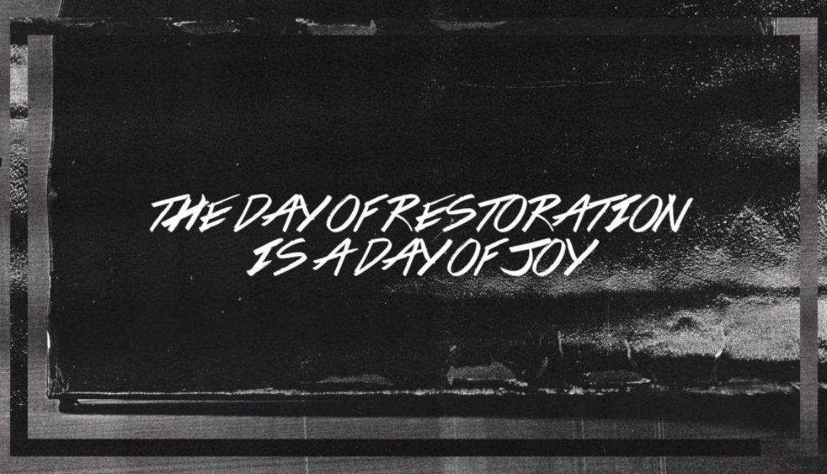 The Day of Restoration is a Day of Joy Banner