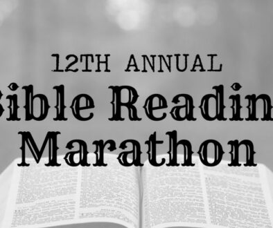 Bible Reading Marathon - Bible Background Banner
