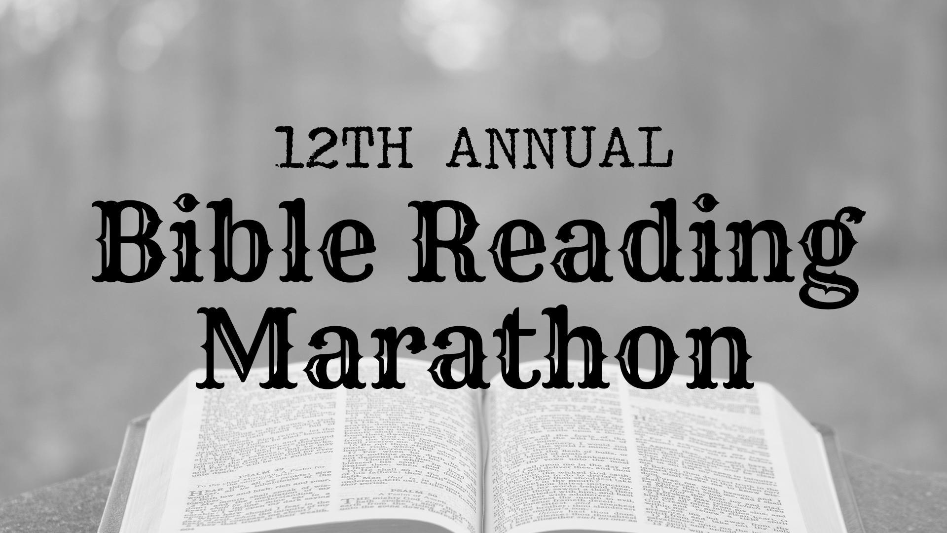 Bible Reading Marathon - Bible Background Banner
