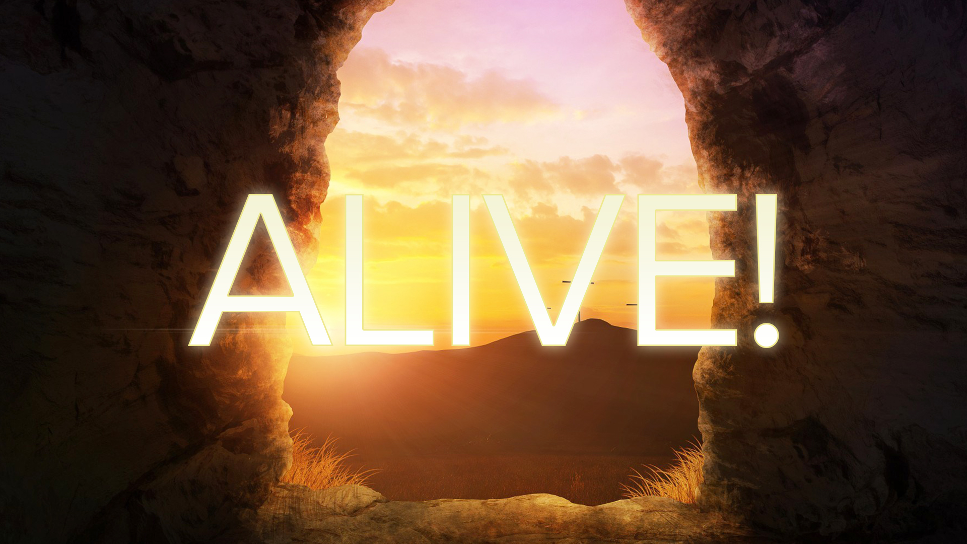 Alive Bold Logo - 3 Crosses on the Horizon